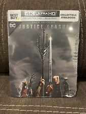 Justice League Zack Snyder 4K Best Buy Exclusive Steelbook Mint New Sealed!