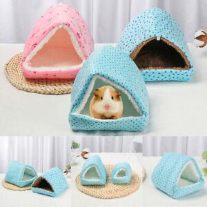 Rabbit Winter Guinea Pig Nest Small Animal Sleeping Bed Hamster House Warm Mat