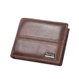 Leather Mens Wallet Credit Card Holder Multi-card Billfold Fashion Purse Gift