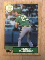 1987 Topps Rookie 1987 Donruss Etc. Mark McGwire Lot 25