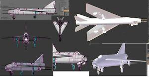 3D Printed 1/48 P1 Lightning Model Kit