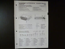 Original Service Manual Blaupunkt Autoradio Frankfurt Stereo US 7638426010