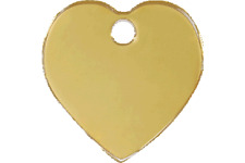 Red Dingo Dog ID, Pet Tag, Charm, Cat Personalized Engraved Brass Heart