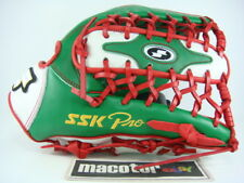 """SSK Special Pro Order 13"""" Outfield Baseball / Softball Glove Green Red RHT I-Web"""