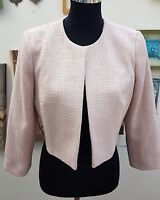 PHASE EIGHT CRAFTED TEXTURE CLOUDY PINK CROPPED JACKET   SIZE 8-10-12-14-16