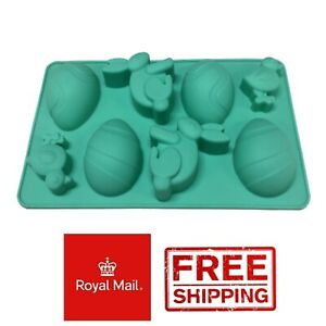 Easter Egg Silicone Mould Bunny Rabbit Eggs Duck Mold Wax Melts Ice Chocolates