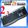 2x PC Computer Tastatur Keybord PS 2 Stecker Keyboard spanisch NEU PS2 Key