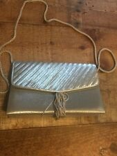La Regaie silver bag tassel front cord handle