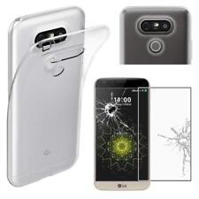 Pour LG G5 Coque en gel silicone TRANSPARENT + 1 verre trempé