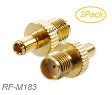 2-Pack TS9 Male Plug to SMA Female Jack Gold-Plated RF Adapter, RF-M183-2