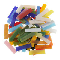 70pcs Rectangle Shape Glass Mosaic Tiles for Arts DIY Crafts 10x40mm