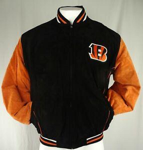 Cincinnati Bengals NFL G-III Men's Full-Zip Snap-Up Leather Jacket