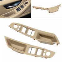 ABS PC Beige Car Inner Window Switch Door Panel Armrest Left Handle For BMW F10