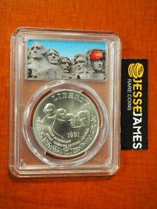 1991 P $1 SILVER MOUNT RUSHMORE COMMEMORATIVE DOLLAR PCGS MS69 TRUMP MAGA LABEL