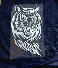 Tiger Car Bonnet Body Door Sticker Decal Graphic BMW Audi Ford Peugeot (White)