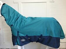 AXIOM 1800D BALLISTIC WATERPROOF BRIGHT BLUE/NAVY 300g HORSE COMBO RUG - 5' 3