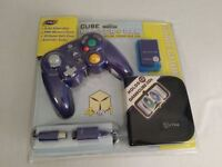 Nyko Gamecube Essentials Controller Memory Card Extension Cable Case new