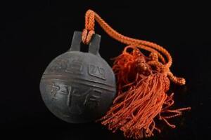 L376: Japanese Iron Poetry sculpture BELL Buddhist art