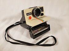 Vintage Polaroid One Step SX-70 Rainbow Stripe Instant Camera ~ Tested Works