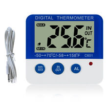 Digital Thermometer ℃/℉ LED Electronic Temperature Freezer Alarm in/Out Home