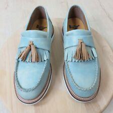 Dr. Martens Annah Tassel Blue Leather Loafers Women's US 6 UK 4 EU 37
