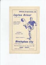 Birmingham City Football Reserve Fixture Programmes (1950s)