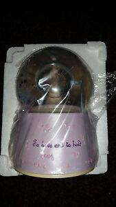 MUSICAL WEDDING SNOW GLOBE BRIDE AND GROOM TO HAVE AND TO HOLD PLAY WEDDING TUNE