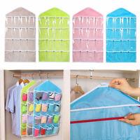 16Pockets Clear Over Door Hanging Bag Shoe Rack Hanger Storage Organizer Tool~