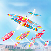DIY Hand Throw Electric Fly Aircraft Rechargeable Glider Education Kids Toy Well