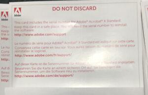 NEW Adobe Acrobat X Standard Activation Key
