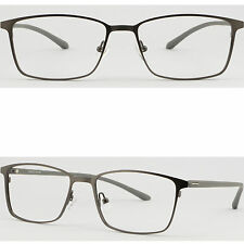 Light Mens Titanium Frames Large Metal Prescription Glasses Plastic Temples Grey