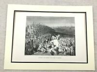 Antique Engraving Print Apollonius of Tyana Ancient Greek Army War Elephants