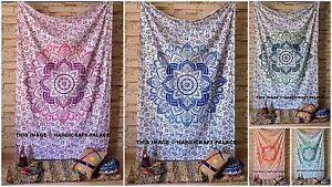 Jeté de Lit Double Couvre-Lit Gypsy Indien Ombre Tapisserie Mural Mandala Housse
