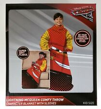 Disney Cars Lightning McQueen Character Blanket With Sleeves Kid Size Free Ship