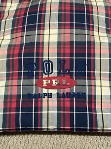 Ralph Lauren POLO Home Kennebunkport Plaid Comforter Embroidered Madras Twin Bed