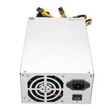 1800W Alimentatore Power Supply 2 Ventola Per Bitcoin Miner Mining 160V-240V