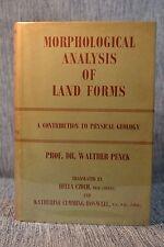 Morphological Analysis of Land Forms Physical Geology Walter Penck Vtg HBDJ 1953