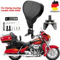 Motorrad Verstellbare Fahrer Rückenlehne für Harley Touring Road Glide 1998-2008