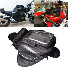 Magnetic Motorcycle Motorbike Oil Fuel Tank Bag Waterproof Saddlebag Phone Black