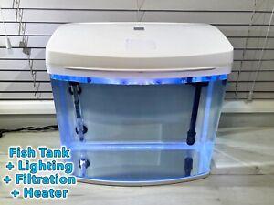 50 Litre Aquarium Glass Fish Tank. Full Set Up. Lighting + Filter + Heater