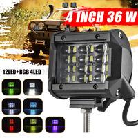 36W 4INCH RGB LED 12V 24V LAMPADA DA LAVORO FARETTO PER AUTO BARCA CAMION