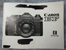 New listing Original Canon Ef Film Camera Instruction Manual, Excellent - Marked On Cover