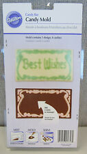 NEW! WILTON MAKE PLAIN CANDY BAR MOLD ADD A MESSAGE NAME #2115-1356 PERSONALIZE
