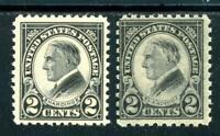 USAstamps Unused FVF US Harding Perf 10 and 11 Set Scott 610, 612 OG MNH