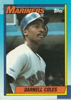 FREE SHIPPING-MINT-1990 Topps #232 Darnell Coles Mariners PLUS BONUS CARDS