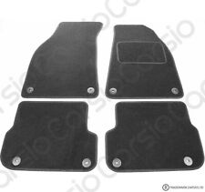 Audi A6 C6 Facelift 2009 to 2011 Tailored Carpet Car Floor Mats Black 8 Clips