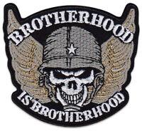 Brotherhood Bruderschaft Soldat Skull Biker Totenkopf Aufbügler Aufnäher Patch