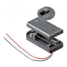 Batteriehalter für 2x Mignon AA Akkuhalter Batteriefach mit Schalter Ein Aus
