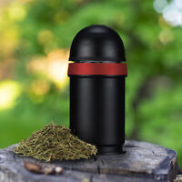 Smell Proof Container For Herbs Storage Vacuum Stash Jar Sealed Keep Fresh Black