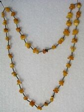 Vintage Russian Latvian Baltic Amber Necklace 28 gr